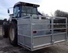 "Galvanised  7ft 6"" 3 Point Link Tractor Livestock Farming Box with LED Lights"
